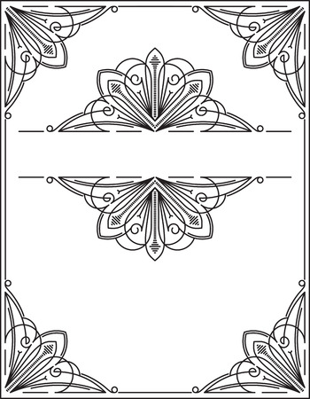 victorian scroll: Vintage frame, page decoration template, set of decorative design elements in retro style, vector scroll embellishment on white background.