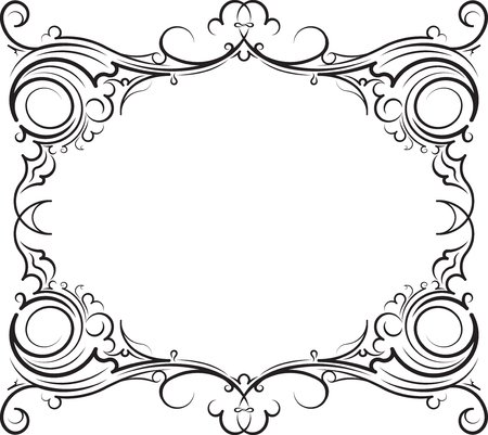 blank space: Vintage frame and with blank space for text. Retro vintage greeting card or invitation. Illustration