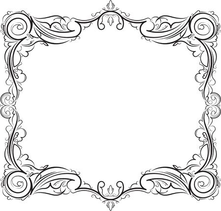 compliments: Vintage frame and with blank space for text. Retro vintage greeting card or invitation. Illustration