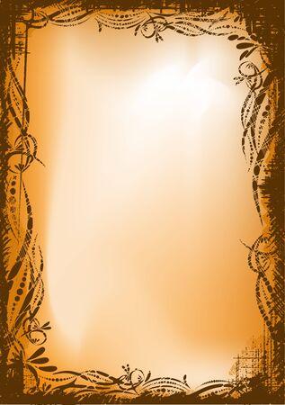 folio: Retro styled grunge shabby background. EPS10 vector illustration