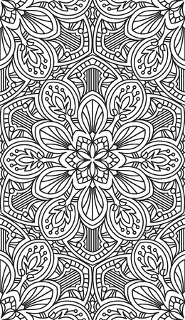 vitrage: Seamless Abstract Tribal Pattern. Hand Drawn Ethnic Texture. Vector Illustration.
