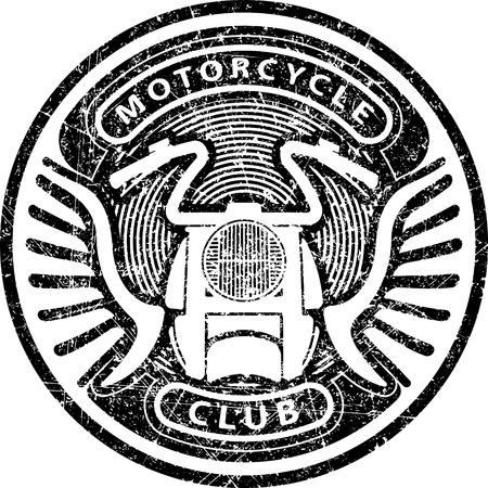 stamp design: Motorcycle club grunge style ruber stamp design for emblem or logo Illustration