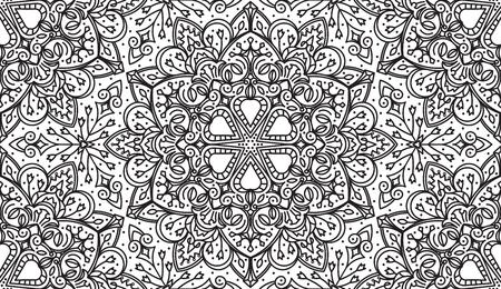 etnia: Seamless Abstract Tribal-Negro Modelo blanco. Dibujado a mano Textura étnica. Ilustración del vector. Vectores