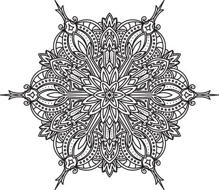 serviette: Abstract vector round lace design - mandala, decorative element