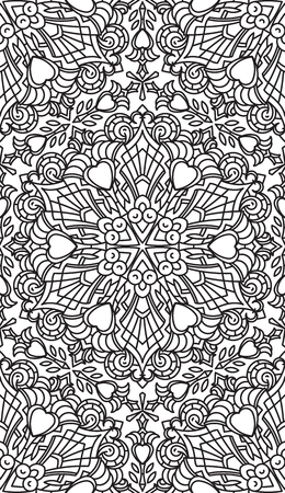 asian and indian ethnicities: Seamless Abstract Tribal Black-White Pattern. Hand Drawn Ethnic Texture. Vector Illustration.