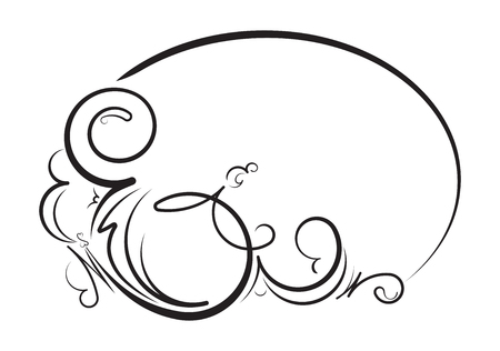 oval  alcohol: Elegant oval floral vector frame for your design or text.