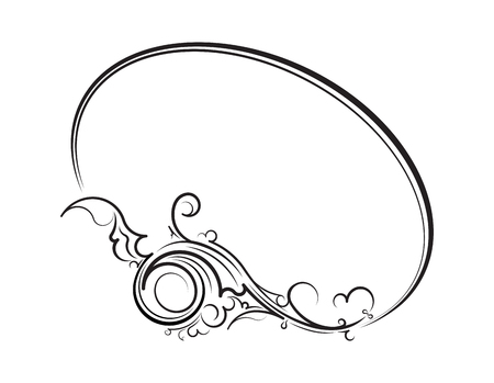 oval  alcohol: Elegant oval floral frame for your design or text.