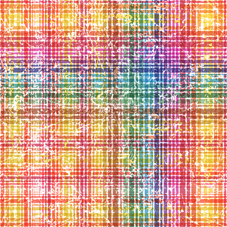 rift: Seamless colorful checkered grunge style shabby pattern. Vector illustration for your design. Illustration