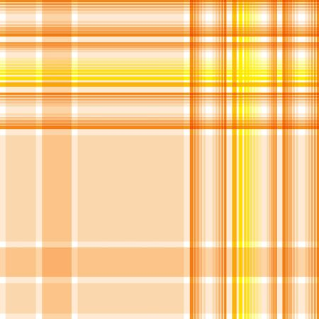 Seamless cream-colored, yellow and light orange checkered pattern. Vector illustration for your design.