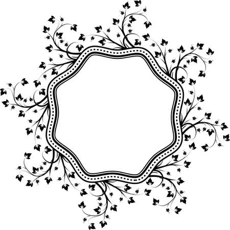 octagonal: Decorative, unusual, round octagonal frame with empty place for your text. Vector illustration for your design.