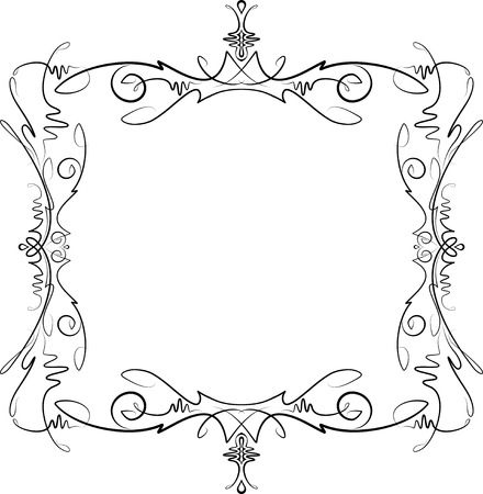 Unusual, decorative lace ornament, vintage frame with empty place for your text. Vector illustration greeting Vektorové ilustrace