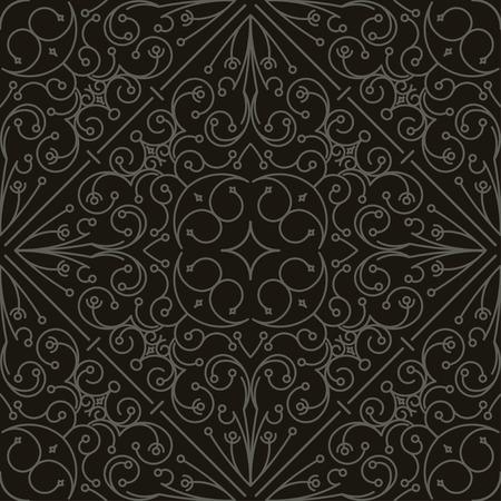 Patrones negro-blanco tribales abstractos sin fisuras. Mano dibujado textura étnica.