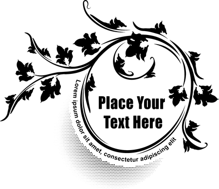 oval  alcohol: Elegant oval floral frame. Template for your design or text.