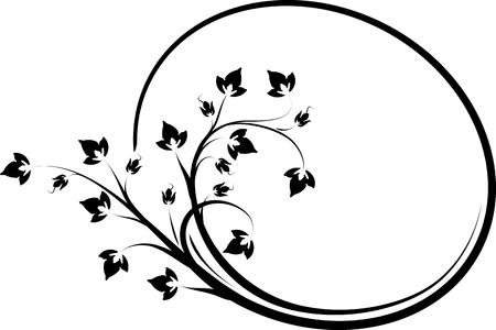 Elegant oval floral frame for your design or text.