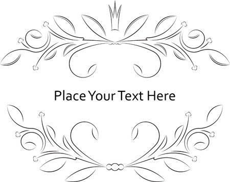 compliments: Vintage frame with crown and with blank space for text. Retro vintage greeting card or invitation.