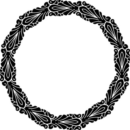 thick: Round vector black heavy thick frame for your design.