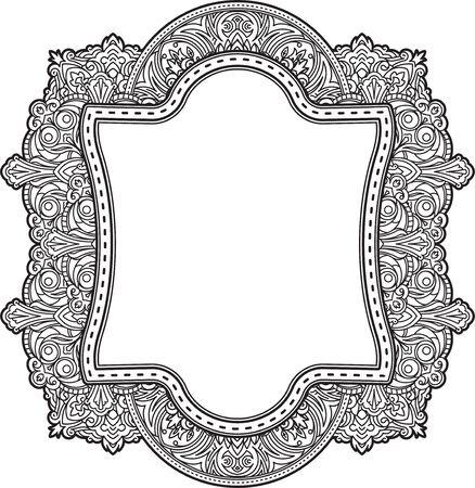 Ethnische Design-Vorlage Für Hochzeitseinladungen Und Grußkarten ...