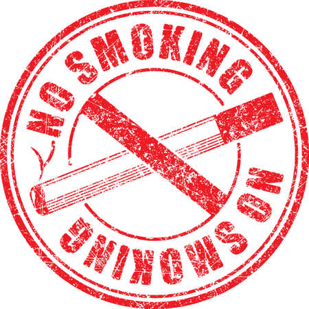 censorship: No smoking red round grunge rubber stamp on white background, vector illustration. Illustration