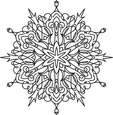 an amulet: Abstract vector round lace design - mandala, decorative element