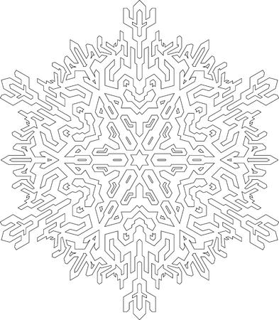 Copo De Nieve Decorativo En El Estilo De Línea Mono. Vector Patrón ...