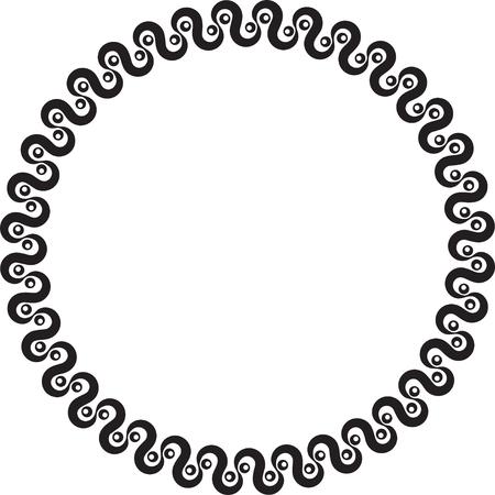 Abstract zeer eenvoudig decoratief zwart rond frame