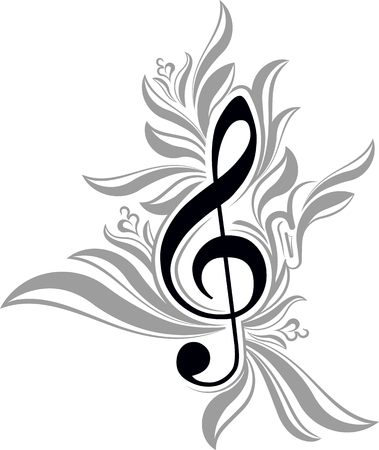 melodic: Abstract musical background with treble clef.