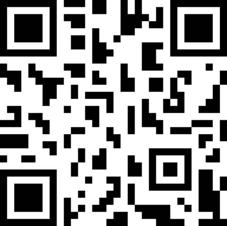 qrcode: Abstract 2D barcode black and white vector illustration.