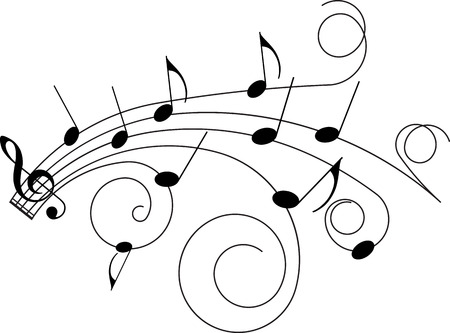 Abstract music background, primitive vector illustration for your design.