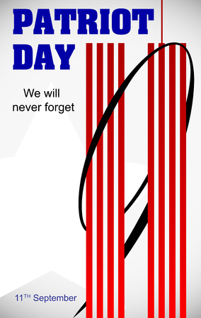 Patriot Day September 11. We will never forget vector design.