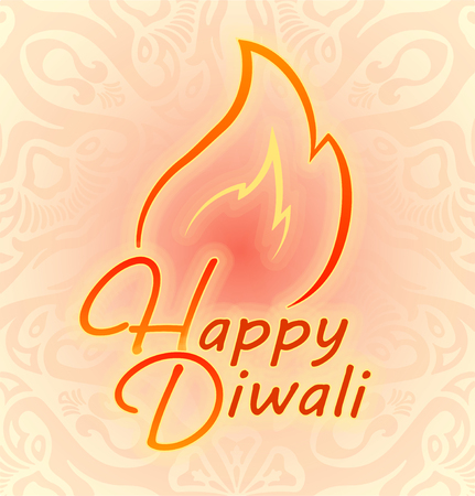 ritual: Happy Diwali colorful decor for Indian festival of fires.