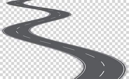 Vector winding road isolated on transparent background. Imagens - 97360517