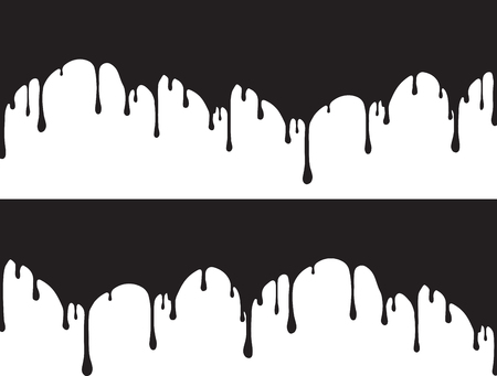 Black paint drips Vector illustration