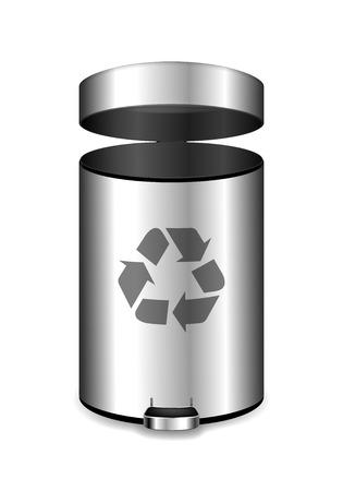 Metal office garbage bin. Vettoriali