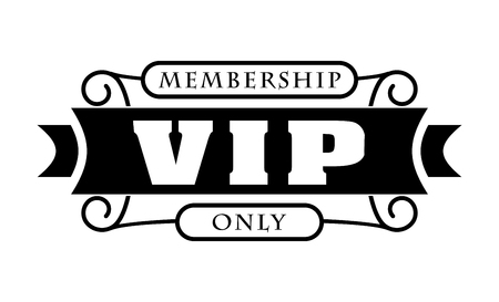 Black rich decorated VIP design on a white background. Stock Illustratie