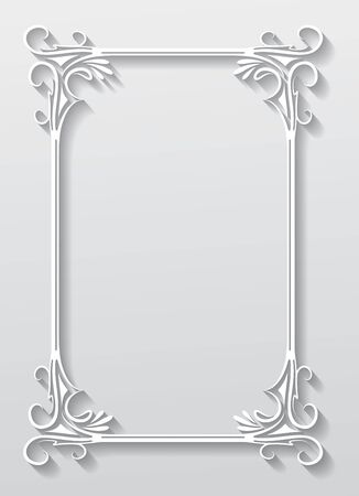 Paper frame in cut of paper style vector backgrund