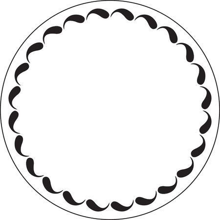 Simple, but stylish round floral decor. Vintage frame for your design.