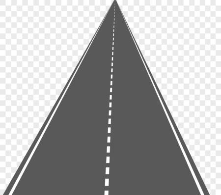 Vector straight road isolated on transparent background. Illusztráció