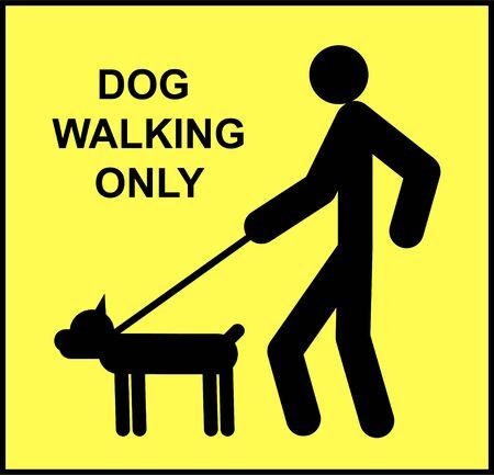 Coronavirus COVID-19 virus social sign Dog Walking Only. Novel coronavirus Covid-19 2019-nCoV outbreak. Illusztráció