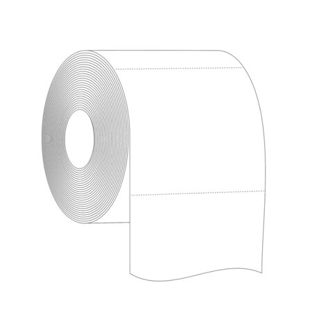 Roll of toilet paper black and white vector illustration for your design. Panic shopping, increased demand during novel coronavirus Covid-19 2019-nCoV pandemic outbreak.
