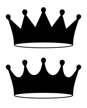 Pair of black crown icon in flat style, illustration for your logo or design.  Illusztráció