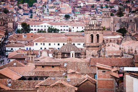 cusco: roof tops of the nice city cusco in peru Stock Photo