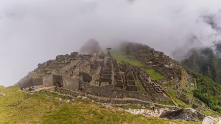 inca: the famous inca ruins of machu picchu in peru Stock Photo