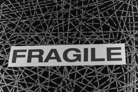 fragile: fragile sign Stock Photo