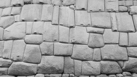 inca architecture: famous inca wall in cusco peru