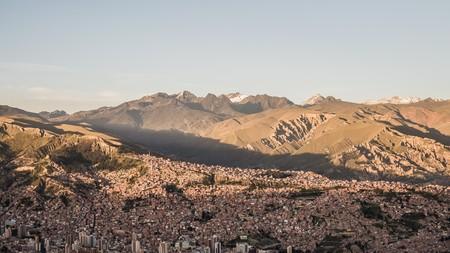 la paz: view over la paz the biggest city in bolivia