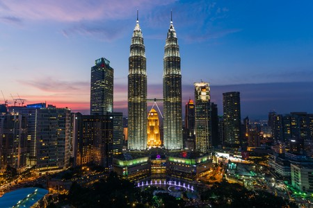別名クアラルンプール マレーシアのペトロナス タワーをツインタワーします。
