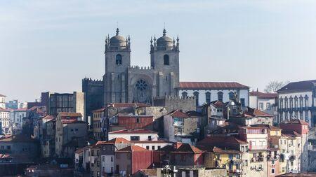 porto: old town of porto in northern portugal