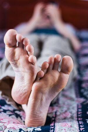 men s feet: close up of feet