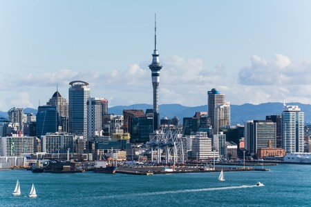 auckland the capital of new zealand with its impressive skyline Editorial