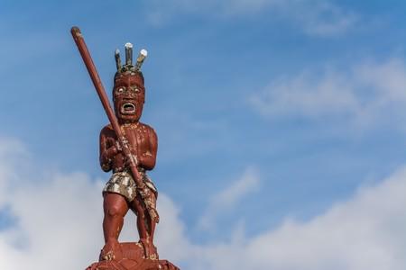maori village on the southern island of new zealand